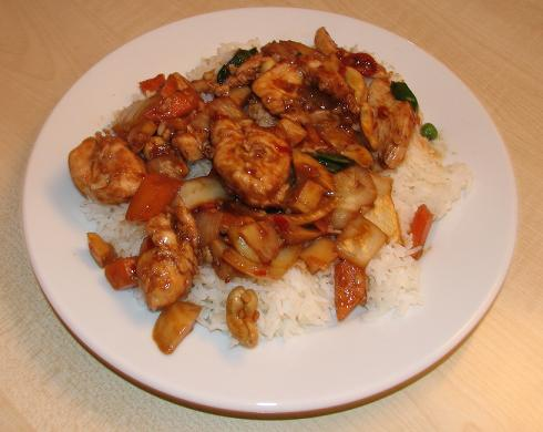 Kung Po chicken (Westernized version)